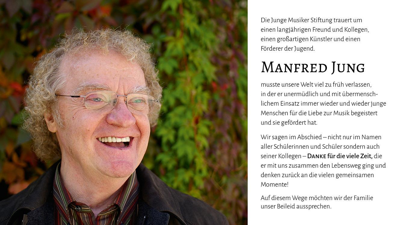 Wir nehmen Abschied von Manfred Jung