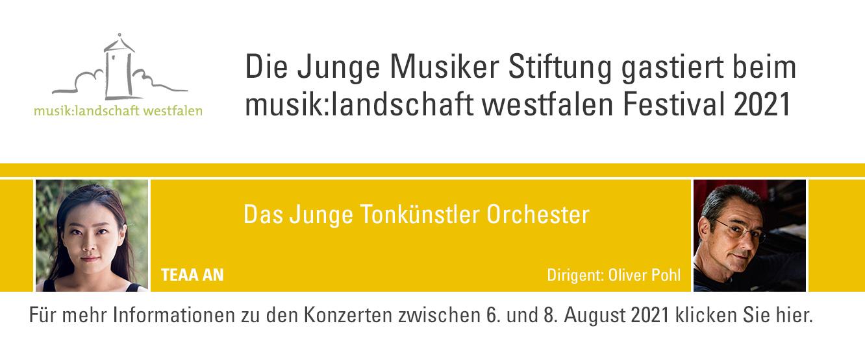 Junge Musiker Stiftung zu Gast bei musik:landschaft westfalen